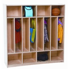 <strong>Wood Designs</strong> Eight Section Space Saver Locker