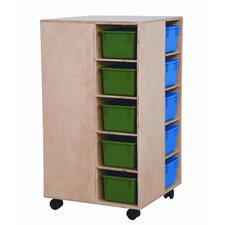 <strong>Wood Designs</strong> Space Saver Cubby Spinner with Assorted Trays