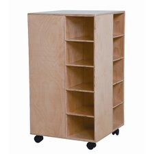 <strong>Wood Designs</strong> Space Saver Cubby Spinner with No Trays