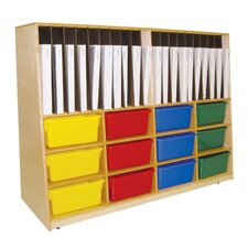 Tip-Me-Not Portfolio Storage Unit 32 Compartment Cubby