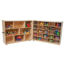 <strong>Wood Designs</strong> Tray and Shelf Single Folding Storage Unit