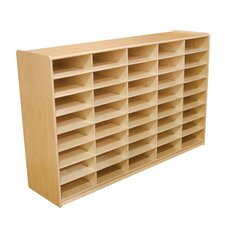 "<strong>Wood Designs</strong> Storage Unit with 3"" 40 Letter Trays"