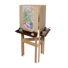 <strong>Wood Designs</strong> Natural Environment 3-Way Easel with Brown Tray
