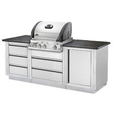 Mirage Built-In Gas Grill with Rear Burner