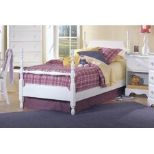 <strong>Carolina Furniture Works, Inc.</strong> Carolina Cottage Twin Four Poster Bed