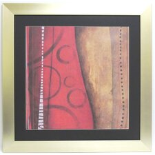 Premier Red Abstract Framed Graphic Art