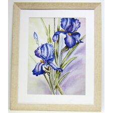 Premier Large Blue Irises Wall Art