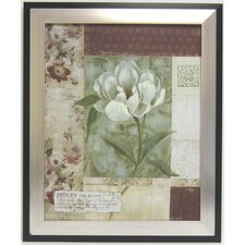 Soft Floral V Framed Graphic Art
