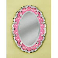 Sophia Venetian Wall Mirror in Pink