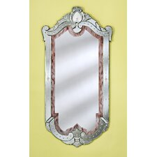 Maxime Venetian Wall Mirror with Gold Accents