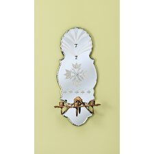 Luna Tres Venetian Mirror Interior 3 Light Wall Sconce