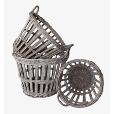 French 3 Piece Round Basket Set