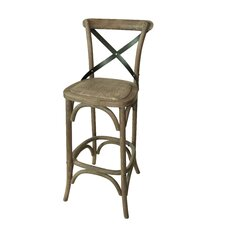 "X Design 29"" Bar Stool (Set of 2)"