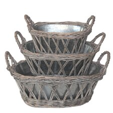 Zoie 3 Piece Round Planter Set