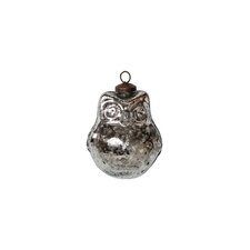 Mercury Glass Owl Ornament (Set of 4)