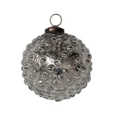 Mercury Glass Hobnail Ornament (Set of 4)