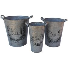 <strong>White x White</strong> Botanica Flower Bucket (Set of 3)
