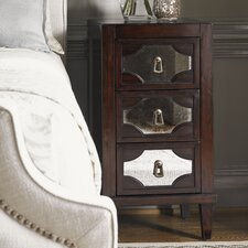 Kensington Place Lucerne Mirrored 3 Drawer Nightstand