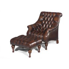 Brighton Leather Chair and Ottoman