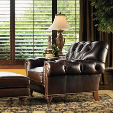 <strong>Lexington</strong> Regents Row Leather Chair and Ottoman