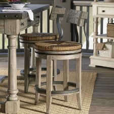 Twilight Bay Dalton Counter Stool in Distressed Textured Soft Taupe Gray