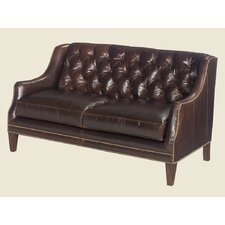 Sloane Leather Settee Loveseat