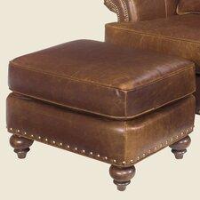 Calvin Leather Ottoman