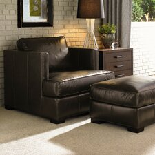 11 South Leather Chair and Ottoman