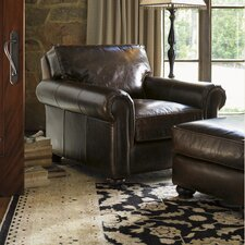 <strong>Lexington</strong> Images of Courtrai Flanders Leather Chair and Ottoman