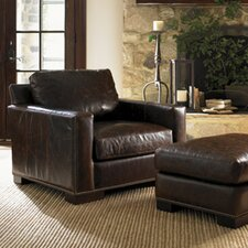 <strong>Lexington</strong> Images of Courtrai Reuben Leather Chair and Ottoman