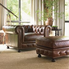 Images of Courtrai Belfort Leather Chair and Ottoman