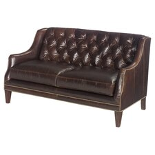 Sloane Leather Loveseat