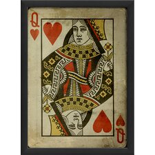 <strong>Blueprint Artwork</strong> Queen of Hearts Framed Art