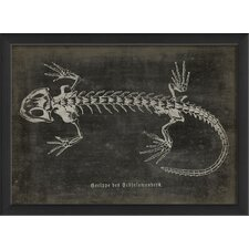 <strong>Blueprint Artwork</strong> Lizard Framed Art