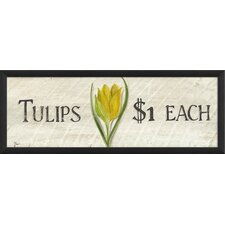 Tulips $1 Framed Graphic Art