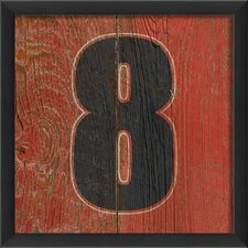 Wooden Number Eight Framed Art