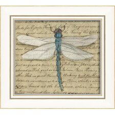 Dragonfly Framed Graphic Art