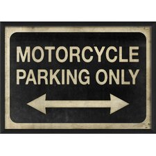 Motorcycle Parking Only Wall Art