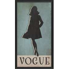<strong>Blueprint Artwork</strong> Vogue Silhouette Large Wall Art