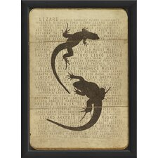 <strong>Blueprint Artwork</strong> Lizard Silhouette Wall Art