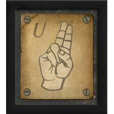 Sign U Framed Graphic Art