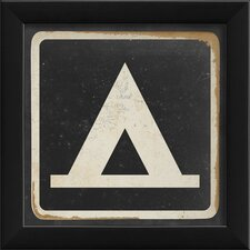 Sign Camping Framed Graphic Art in Black and White