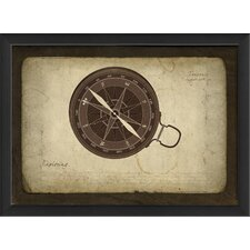 <strong>Blueprint Artwork</strong> Compass Wall Art