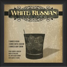 White Russian Mixology Framed Vintage Advertisement