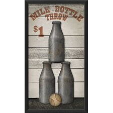 Milk Bottle Throw Wall Art