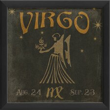Zodiac Virgo Framed Graphic Art