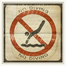 <strong>Blueprint Artwork</strong> No Diving Sign Wall Art