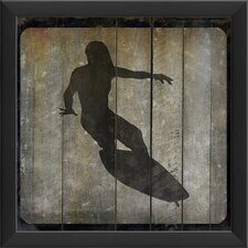 Surfer IV Framed Graphic Art in Black and Gray