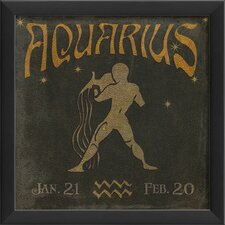 Zodiac Aquarius Framed Graphic Art