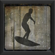 Surfer V Framed Graphic Art in Black and Gray